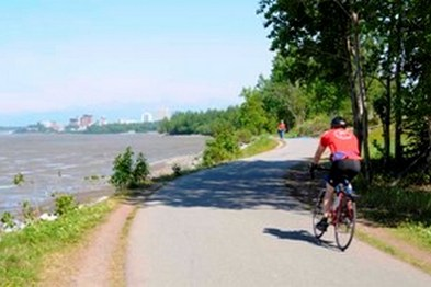 Bike trail in Anchorage